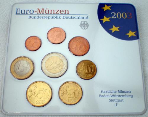 Allemagne Coffret Bu 2003 Atelier F 1 Coffret De 8 Pièces De 1