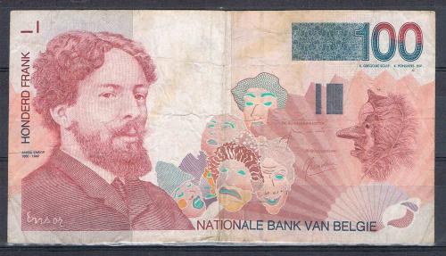 Billet Banque Nationale De Belgique Valeur En Chiffres 100 Francs