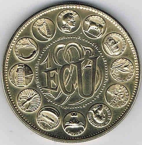 Médaille Souvenir ECU 1982 Europa Cérès