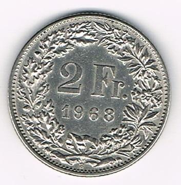 Pi Ce De Monnaie 2 Francs Suisse Helvetia Ann E De Frappe