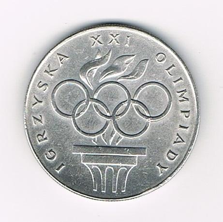 pi ce polonaise monnaie comm morative de 200 zlotych argent 1976 pi ce des jeux olympiques avec. Black Bedroom Furniture Sets. Home Design Ideas