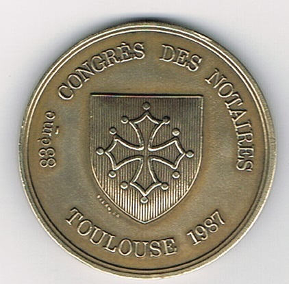 Jeton Congres Des Notaire Toulouse