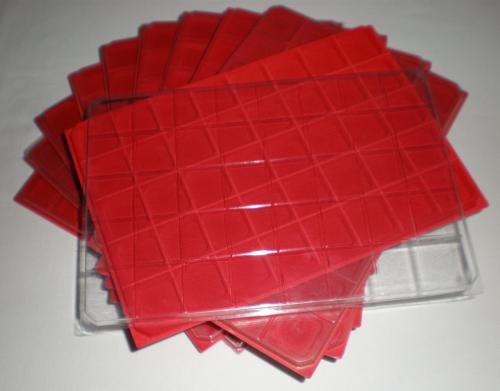 LOT 50 BOX COLLECTEURS DE RANGEMENT EN FEUTRINE POUR CAPSULES 40 CASES CARREES