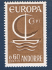 Timbre  Andorre N°178 Neuf Europa 60c brun