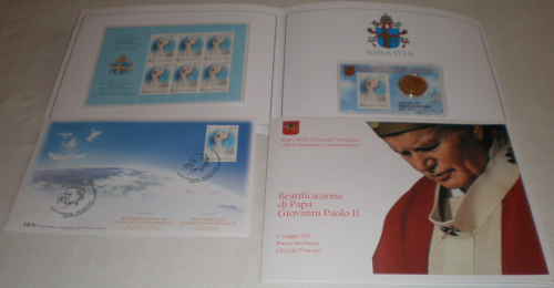 Enveloppe Vatican folder Stamp & Coin Card
