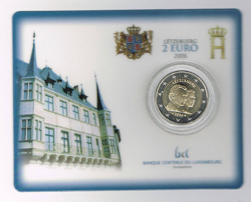 Coincard comprenant 2€ Luxembourg 2006 Grand Duc Guillaume