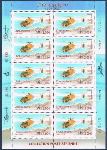 timbres de france pour la poste a rienne en mini feuilles avec marges illustr es villers. Black Bedroom Furniture Sets. Home Design Ideas