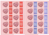 Feuilles 10 timbres type Saint valentin
