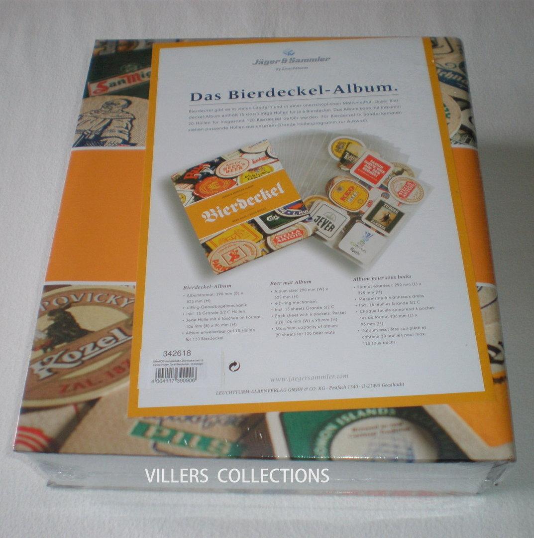album sous bocks de bi re avec 15 feuilles villers collections. Black Bedroom Furniture Sets. Home Design Ideas