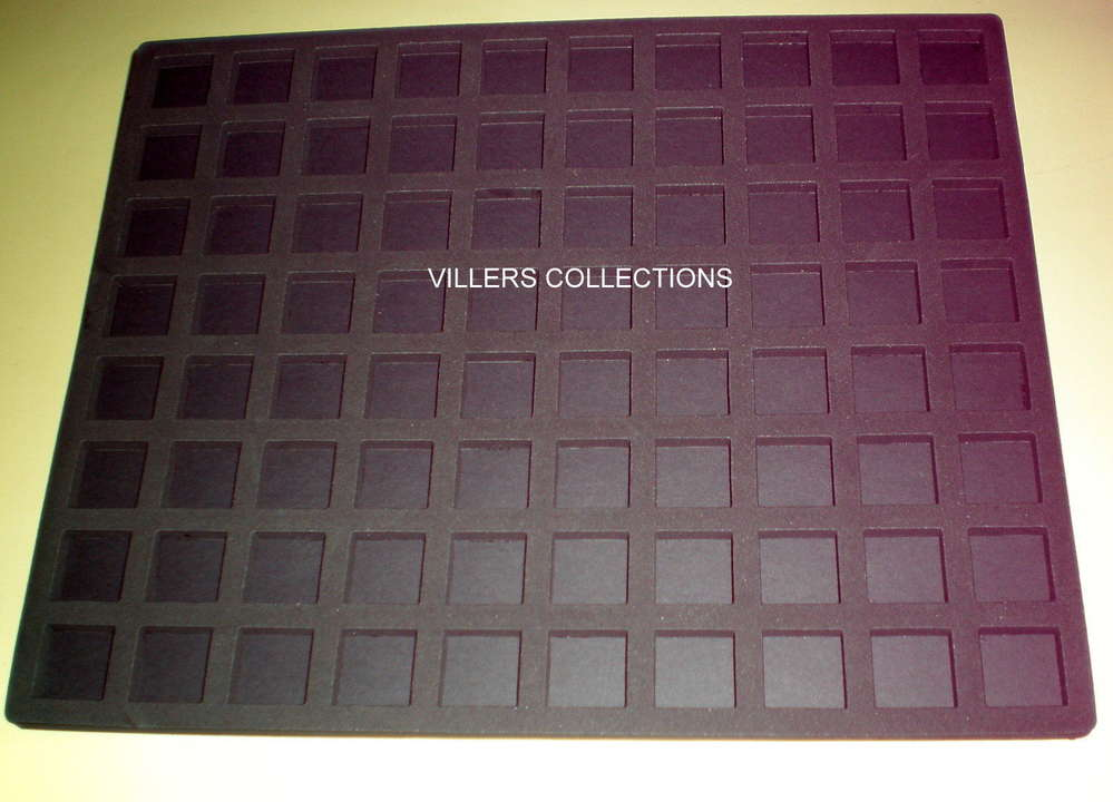 LOT 10 BOX NOIRS COLLECTEURS DE RANGEMENT EN PLASTIQUE MUSELETS 40 CASES RONDES