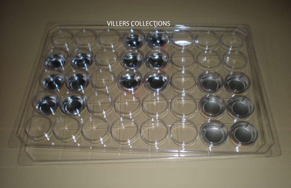 COLLECTEURS DE RANGEMENT EN FEUTRINE POUR CAPSULES 40 CASES RONDES LOT 20 BOX