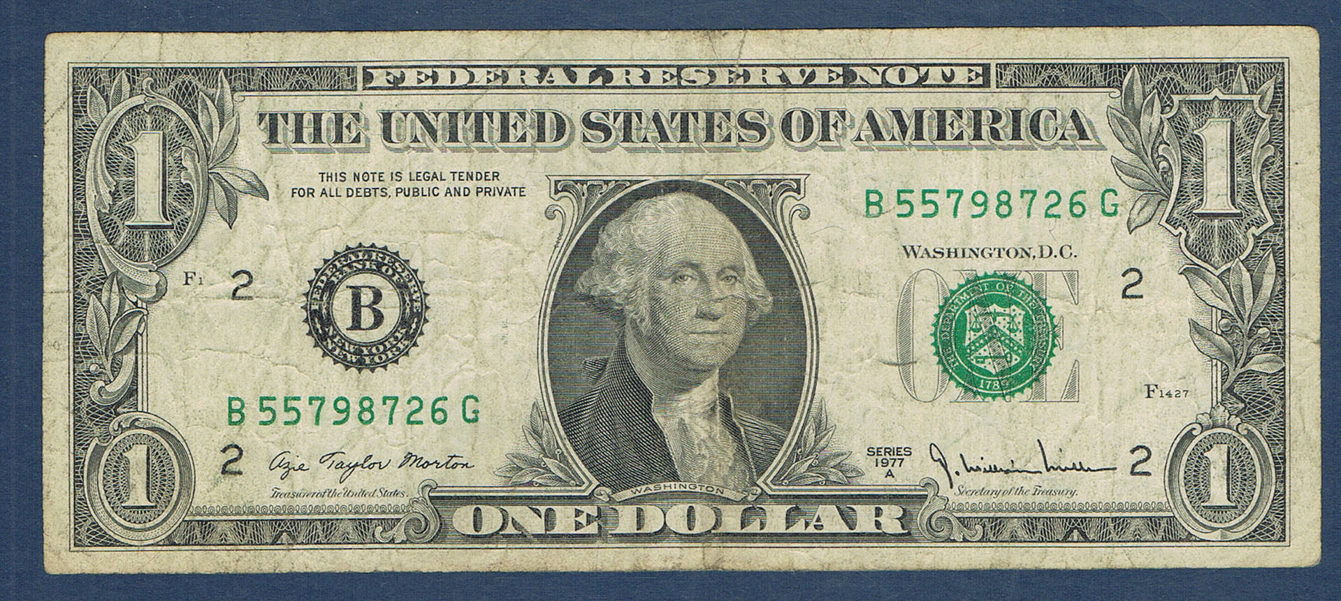 Billet ONE DOLLAR The United States OF AMERICA ... - photo#45