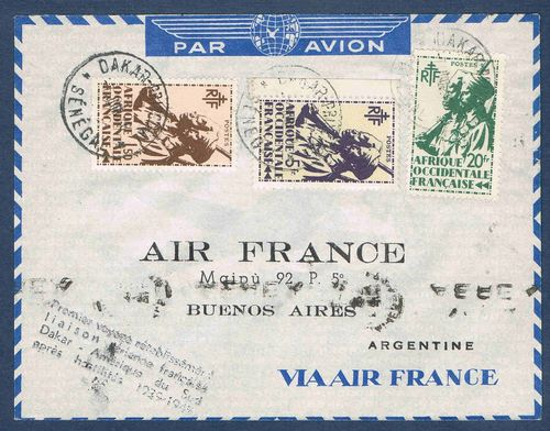 Enveloppe Avion AIR France Buenos Aires Argentine Promo