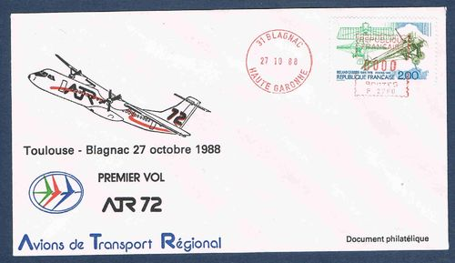 Avion de Transport régional premier vol AR 72 Promo